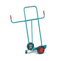 Wózki / taczki do płyt Ameise® z uchwytem. Platforma 500 x 200 mm. Różne koła.