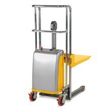 Wózki widłowe z platformą podnoszoną elektrycznie. Udźwig 400 kg. Wys. podnoszenia 1,2 lub 1,5 m.