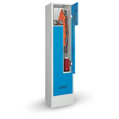 Z-Garderobenschrank, 2 Abteile, 1850x430x500 (HxBxT), Sockel