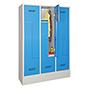 Z-Garderobenschrank, 4 Abteile, 1850x830x500 (HxBxT), Sockel