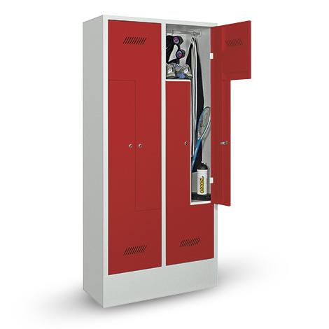 Z-Garderobenschrank, 6 Abteile, 1850x1230x500(HxBxT), Sockel