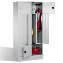 Z-Garderobenschrank mit festen Türen, 4 Abteile, HxBxT 1.820 x 820 x 510 mm