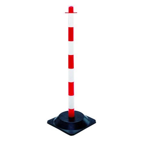 Zahradzovacie stĺpiky na reťaz, jednotlivé, podstavec ztvrdenej gumy (4hrany)