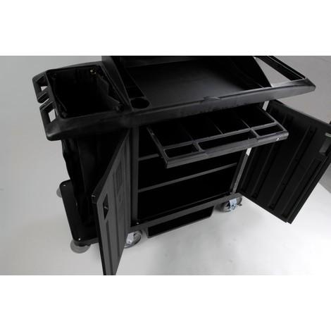 Zamykana pojemnik z szufladami na wózki serwisowe i hotelowe Rubbermaid®
