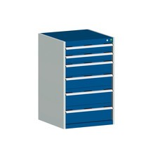 Zásuvková skříň bott cubio, zásuvky 2x100 + 2x150 + 2x200 mm, nosnost každý 200 kg, šířka 1.300 mm