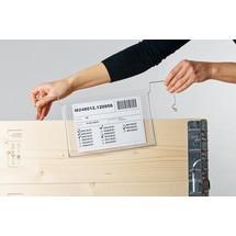Zavěšovací obal na dokumenty sdrátěným závěsem a klopou
