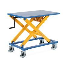 Zdvíhací stôl s nožnicovým mechanizmom s kľukou