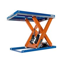 Zdvíhací stôl snožnicovým mechanizmom EdmoLift® raduT, jednoduchý nožnicový mechanizmus