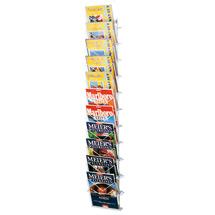 Zeitschriften-Wandhalter. 11 beschichtete Drahtfächer
