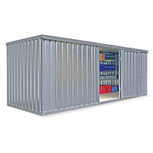 Zerlegter Materialcontainer, verzinkt, ohne Holzfußboden