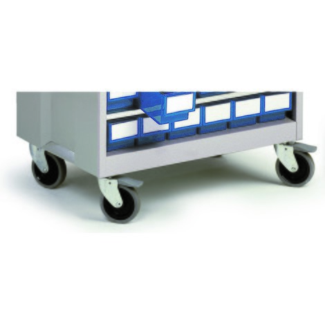 Zestaw kółek do szafek z szufladami 870 × 605 × 410 mm