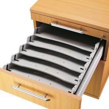 Zestaw nachylonych półek do pojemnika na kółkach Solid