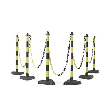 Zestaw stojaków do łańcucha, podstawa z tworzywa sztucznego