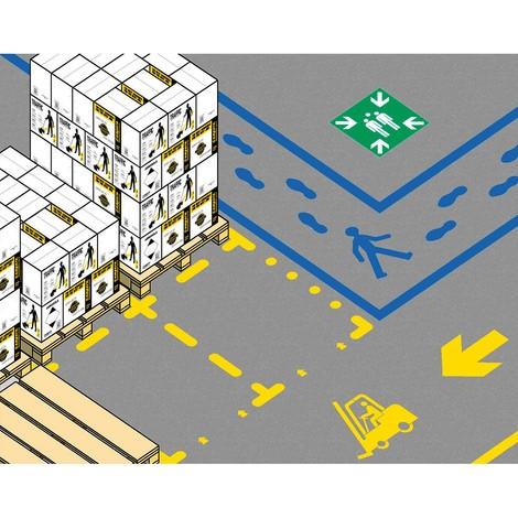 Zestaw szablonów do oznaczania miejsc parkingowych
