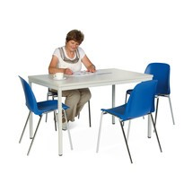 Zitgroep BASIC complete aanbieding: 1 rechthoekige tafel + 4 stoelen