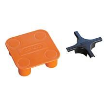 Złącze krzyżowe do małych pojemników/wanny laboratoryjnej CEMO wykonane z PE