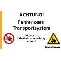 """Znak ostrzegawczy - """"System transportowy bez kierowcy"""""""