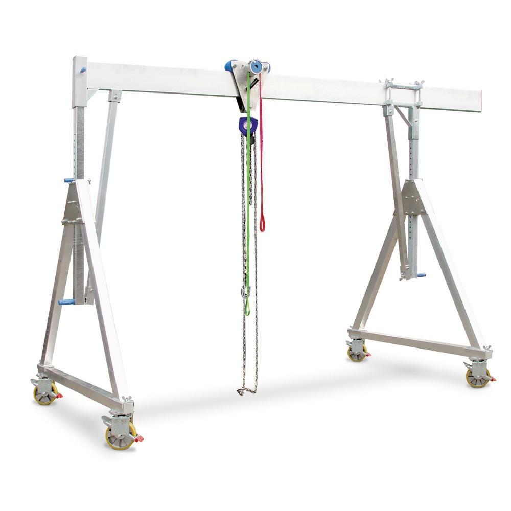 Żuraw bramowniczy aluminiowy, ruchomy
