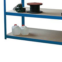 Zusätzliche Fachebene für Weitspannregal Stecksystem. Fachlast bis 350 kg