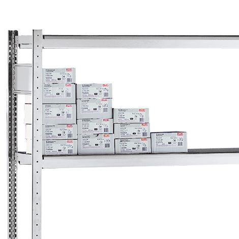 Zusätzlicher Fachboden für Weitspannregal mit Gitterkörben