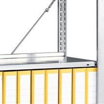 Zusatzboden für Aktenregal META, Fachlast 80 kg, lichtgrau