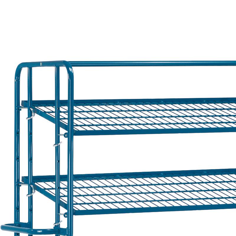 Zusatzboden für Kommissionier-Gitter-Etagenwagen fetra®, Ladefläche 1250x610mm