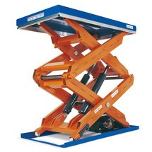 Zvedací stůl snůžkovým mechanismem EdmoLift® řadaT, dvojitý nůžkový mechanismus