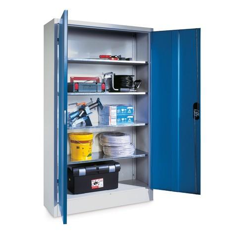 Zwaarlastkast met opensl. deuren, cap. 700 kg, 195x120x50cm