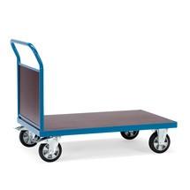 Zware lading platformwagen fetra® met 1 kopwand. Capaciteit 1200 kg