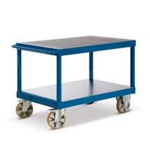 Zware lading tafelwagen Rotauro met 2 etages. Capaciteit tot 2200kg