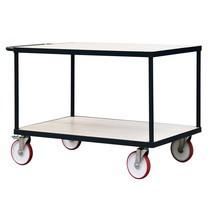 zware tafel en montage trolley, 2 verdiepingen, laadcapaciteit 600 kg