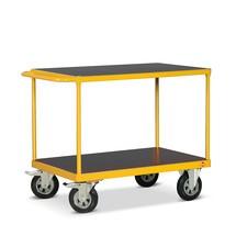 Zware tafelwagen Ameise® met 2 houten legborden. Capaciteit tot 500 kg