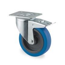 Zwenkwiel TENTE elastisch rubber, rollager, volledige vastzetrem, zwenklagerbescherming, laat geen strepen achter