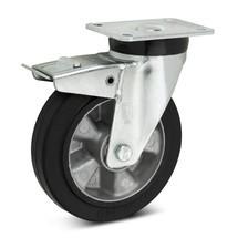 Zwenkwiel Wicke van elastisch massief rubber, incl. vastzetrem in de naloop
