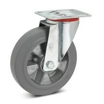 Zwenkwiel Wicke van elastisch massief rubber, velg van aluminium, laat geen strepen achter