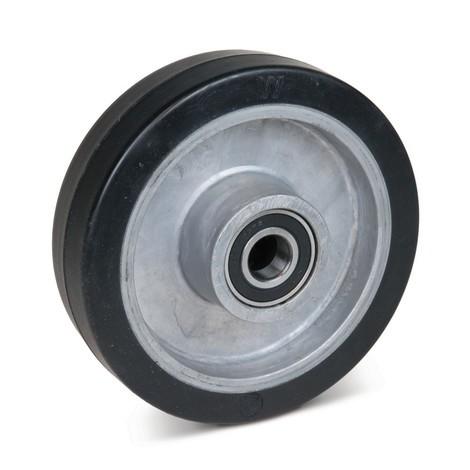Zwenkwiel Wicke van massief rubber, velg van aluminium