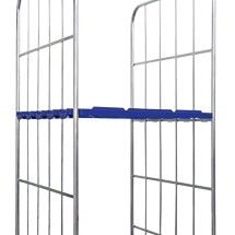 Zwischenboden aus Drahtgitter oder Kunststoff RAL 5010, für Rollbehälter