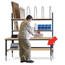Zwischenboden für Packtischsysteme, 1875x680mm